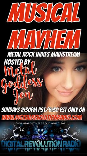 Musical Mayhem will be on www.digitalrevolutionradio.com today at 2:30pm PT/5:30pm ET. Time to get into some mayhem! Com…