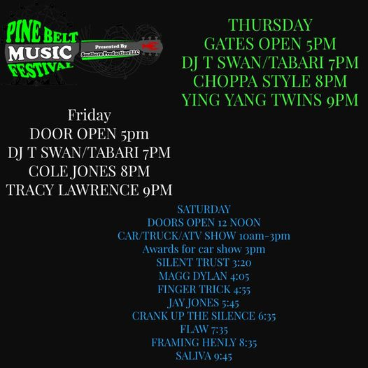 ITS GETTING CLOSE MISSISSIPPI AND THESE ARE ALL YOUR WEEKEND DETAIL!!! COME ON IN FOR A GREAT TIME!!  Admission is $20.0…