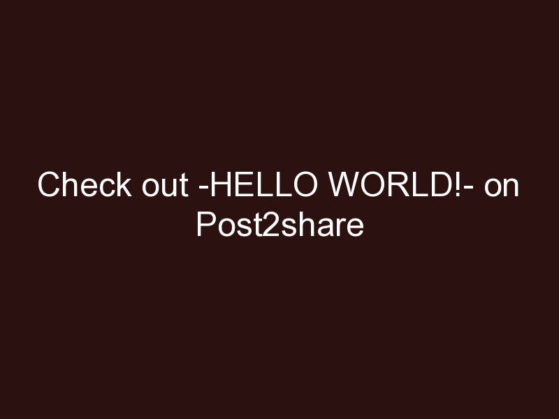 Hello world!